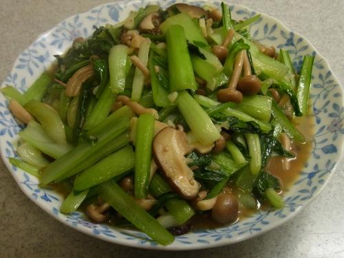 120115-030青菜きのこ炒め(S)