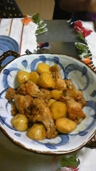 鶏手羽と新じゃがのさっぱり煮カボス風味