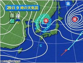 20081129天気図