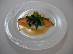 鮭のグレープフルーツジュース