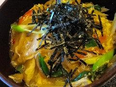 九条ねぎ&根菜丼