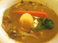 豆乳とキャベツのスープカレー