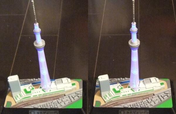 東京スカイツリー模型①(交差法)