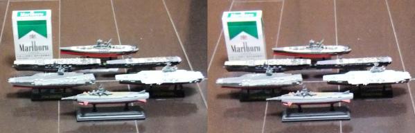 ミニチュア艦船(平行法)
