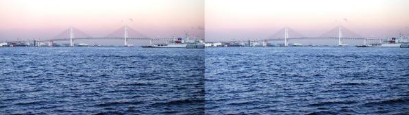横浜ベイブリッジ(平行法)