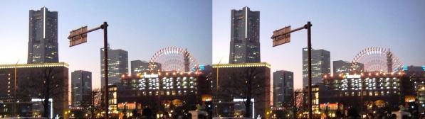 横浜ランドマークタワー①(交差法)