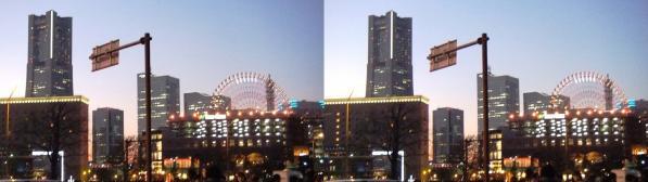 横浜ランドマークタワー①(平行法)