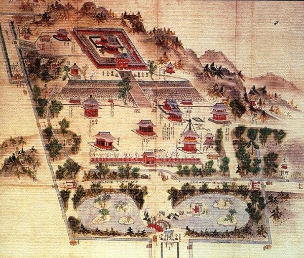 鶴岡八幡宮境内図