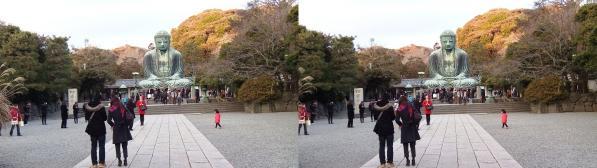 鎌倉大仏⑤(交差法)
