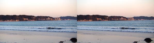 由比ヶ浜①(交差法)