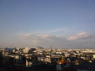 名古屋ドームが見える
