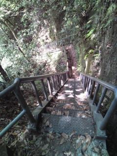 由布川渓谷の階段