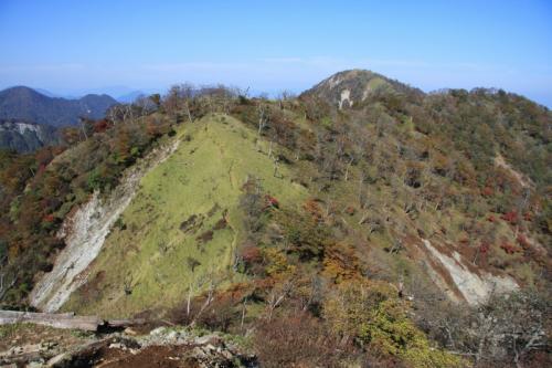 蛭ヶ岳山頂方面