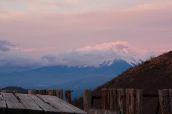 花立山荘前からの富士山
