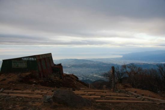山頂から真鶴・伊豆半島方面