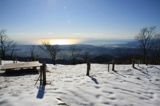 山荘前からの景色