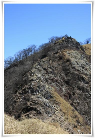 鬼ヶ岩の鎖場