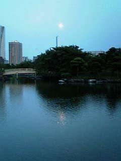 浜離宮 中島の御茶屋 池上の月