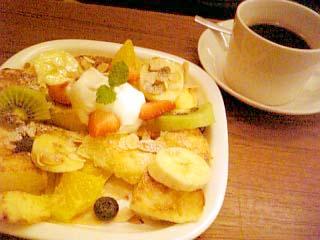seat mania フレンチトースト+コーヒー