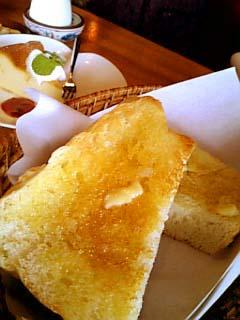 cafeアカリヤ 飛騨産とちの蜂蜜トースト