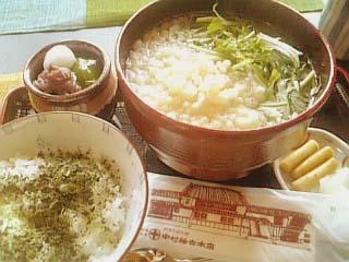 中村藤吉本店 茶蕎麦セット