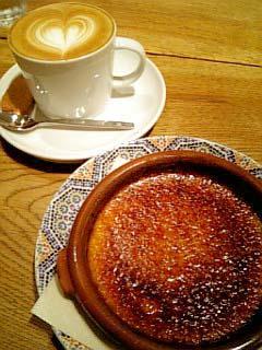 cafe HEAVEN'S クレームブリュレ+カプチーノ