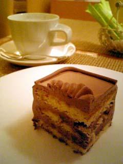 Tops チョコレートケーキ+カプチーノコーヒー