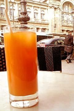 Brasserie Terminus Nord フレッシュオレンジジュース