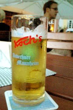 Mannheim 飲み屋のBier