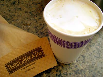 Peet's Coffee&Tea Vanilla latte