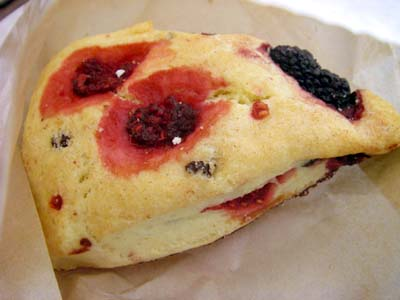 Peet's Coffee&Tea Raspberry Blackberry Scone