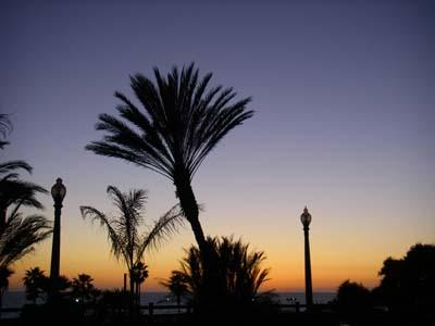 Santa Monica Beach 日没