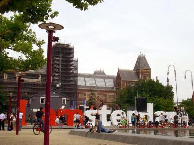 オランダ 美術館裏の広場
