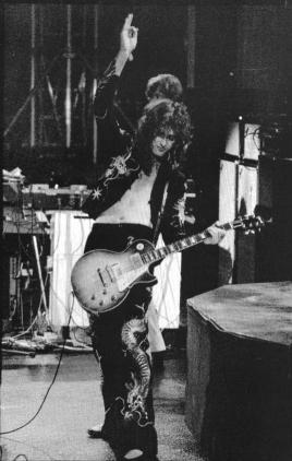 jimmy page les paul guitar poster