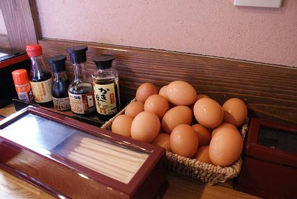 醤油と新鮮卵