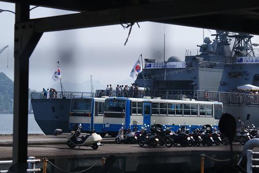 韓国駆逐艦ヤンマンチュンとワンゴン