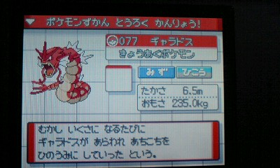 赤いギャラドス図鑑入り★