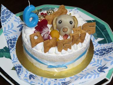 バースデイケーキ6歳