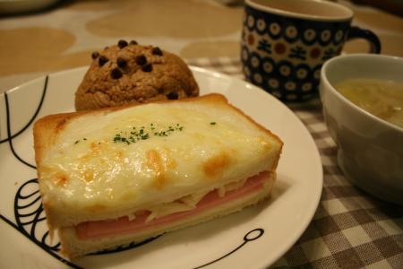 クロックムッシュの朝食