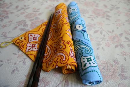 手作りのお箸袋
