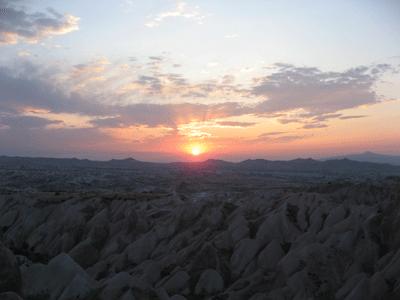 カッパドキアの日没