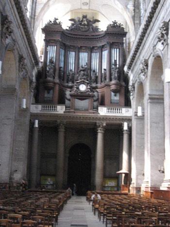 サン・シュルピス教会のパイプオルガン