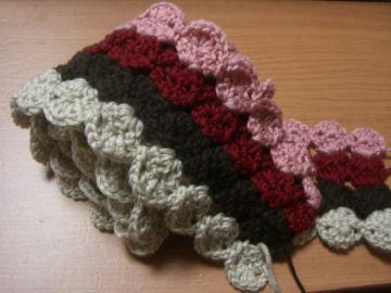 編みちゅう マフラー