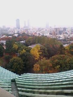 名古屋城屋上より名古屋駅方を見る