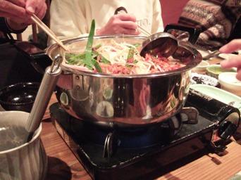 忘年会の鍋