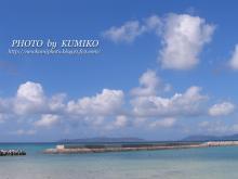 竹富島桟橋近くの海