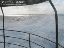 帰りのフェリーから見た竹富島