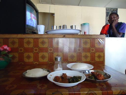 In a restaurant, Kalomo, ZAMBIA