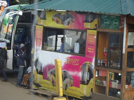 Bus ticket stand in Intercity,Lusaka, ZAMBIA