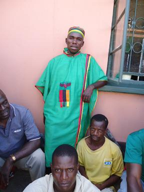 Man in Zambian Flag